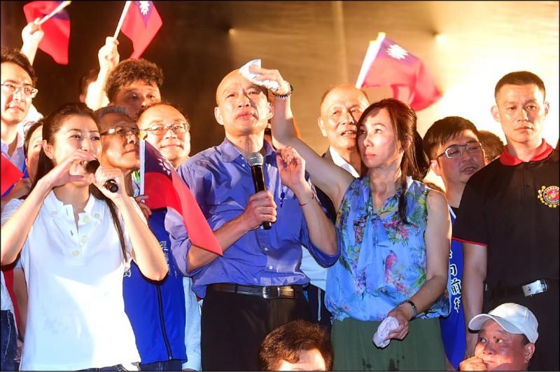 高雄市長韓國瑜如果成為二0二0總統,未來四年他會持續「走唱人生」,無一刻能夠靜下心來、沉澱思考:台灣所遭遇的內憂與外患,更無從糾集眾力,提出解決方案。(資料照)