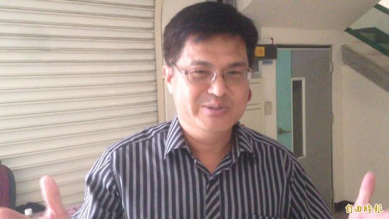 韓國瑜遭畢業生突襲,校長謝文斌(見圖)表示尊重多元意見。(記者黃旭磊攝)