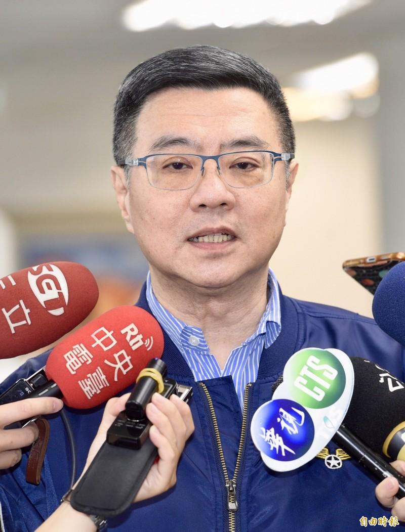 民進黨主席卓榮泰(見圖)今受訪形容高雄市長韓國瑜像石頭,很難打,「但一直在風化中」,前鴻海董事長郭台銘像水晶,很漂亮,但有脆弱的點。他也強調,經濟與主權,都會是2020選戰的主軸。(資料照,記者羅沛德攝)