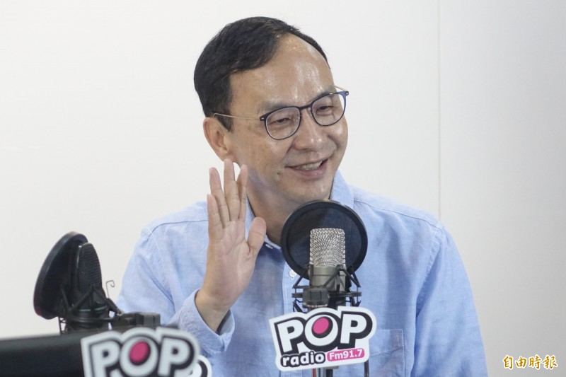 《TVBS》最新民調中,朱立倫支持度比蔡英文低。(記者叢昌瑾攝)
