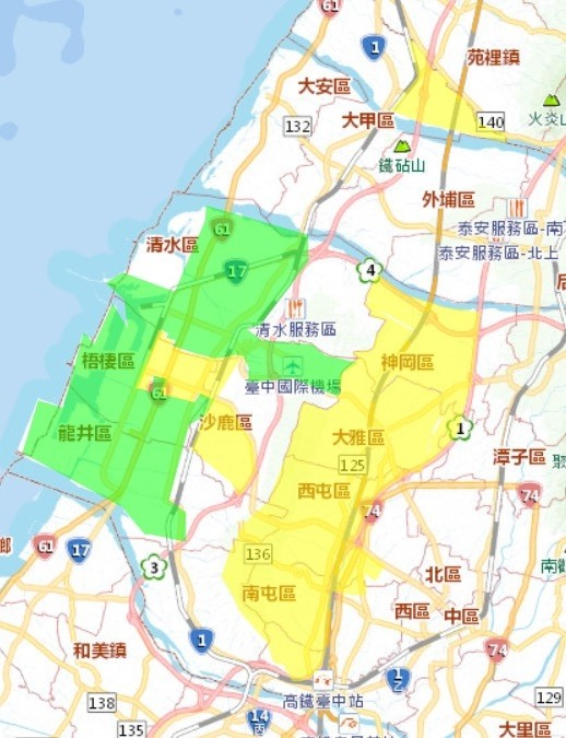 台中市現在臨時大停水23小時,16萬戶停水、降水壓。(記者蔡淑媛翻攝)