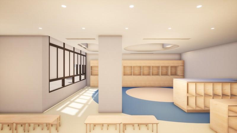 新竹市首間0-2歲的社區公共托育家園即將上路,將招收12名嬰幼兒,也會有3名教保員提供專業照顧。(記者洪美秀翻攝)
