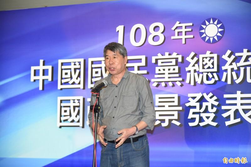 張亞中參加國民黨總統初選國政願景發表會。(記者張忠義攝)