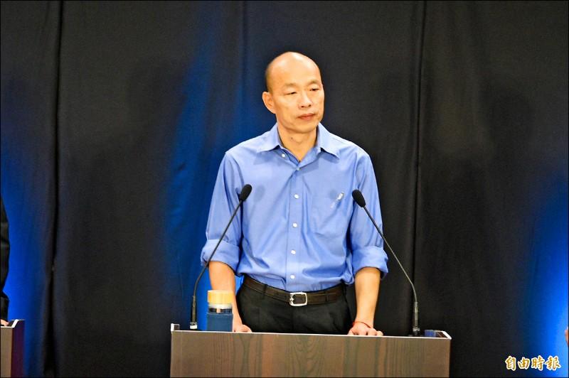 國民黨總統參選人韓國瑜。(記者張忠義攝)