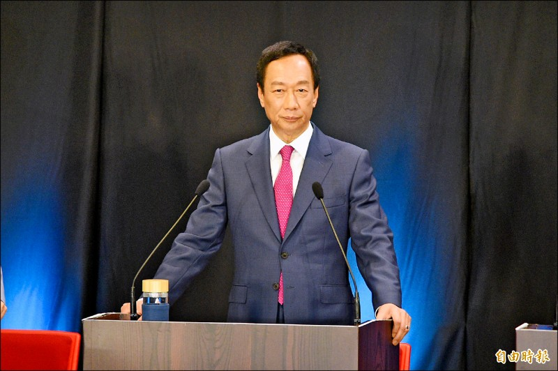 國民黨總統參選人郭台銘。(記者張忠義攝)