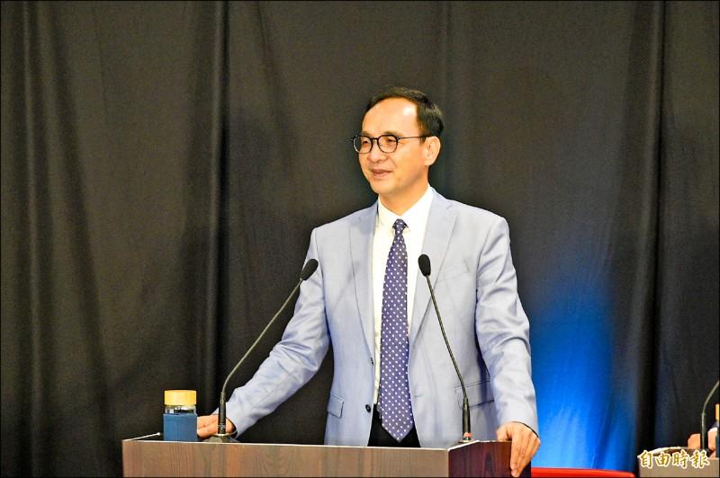 國民黨總統參選人朱立倫。(記者張忠義攝)