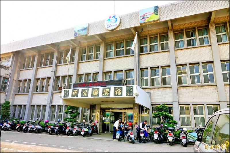 彰化福興公所是堪用危樓,無法承受五級以上的地震,將在原址重建。(記者劉曉欣攝)