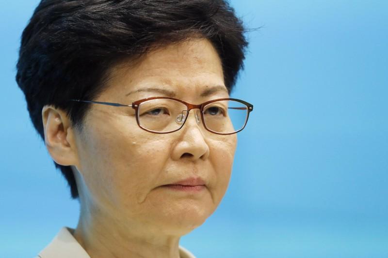 香港特首林鄭月娥神隱9天,今天在禮賓府和警方代表見面。圖為資料照,與本文無關。(彭博)