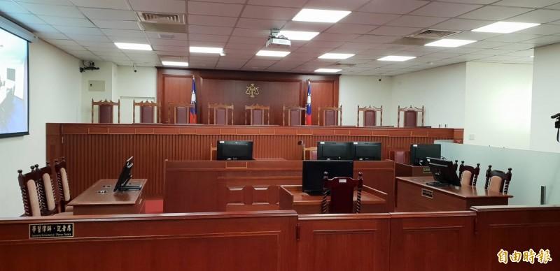 最高行政法院將於7月4日正式啟用的大法庭,今日搶先曝光。(記者楊國文攝)