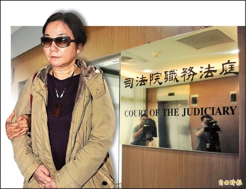 法官法今天三讀,涉貪檢察官陳玉珍(見圖)未來將被追索停職領半薪的薪水。(合成資料照)
