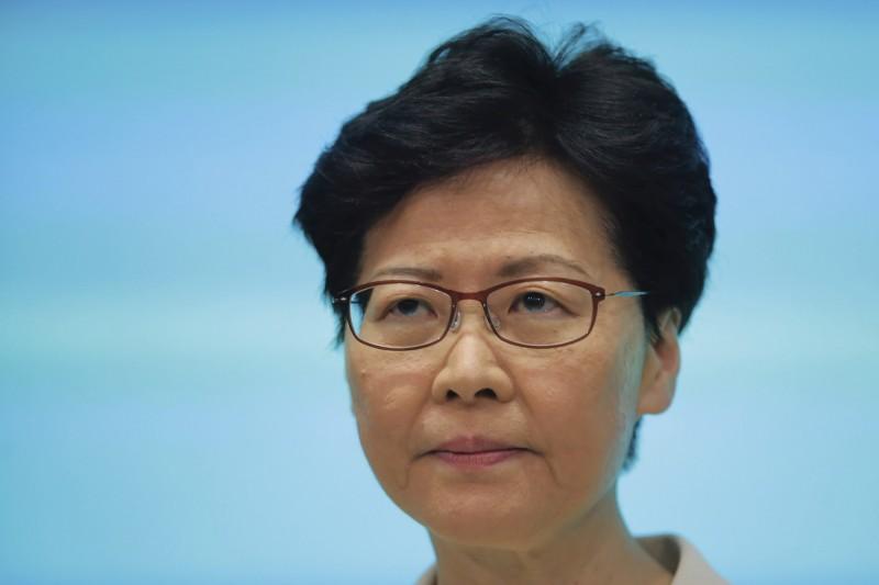 香港立法會議員田北辰呼籲林鄭月娥(見圖)「學著退讓」、「要戰勝心魔」,以解決當前的政治危機。(美聯社)