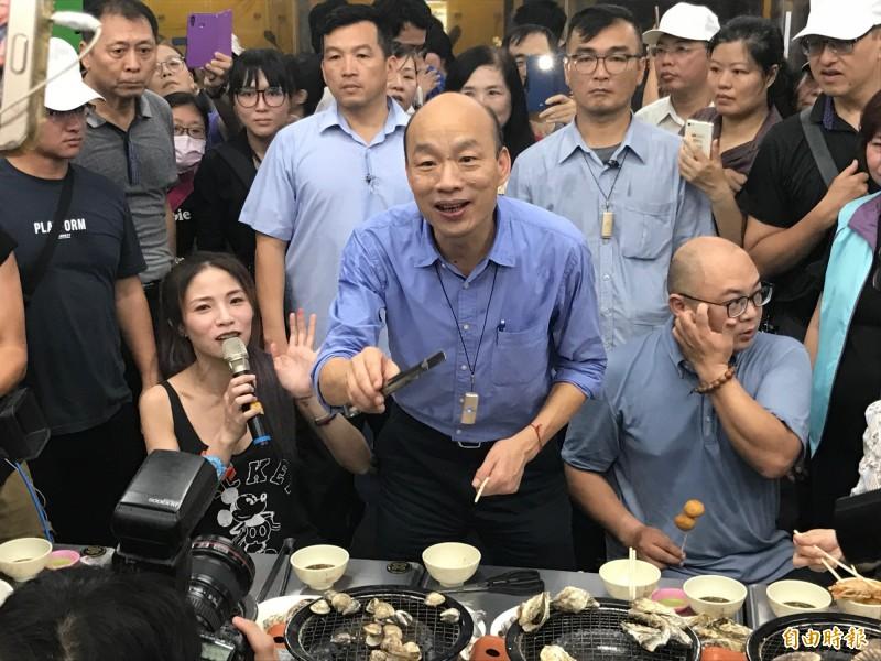 韓國瑜在專訪稱自己是被動參加初選,不會背棄對高雄市民承諾,相關言論被網友怒轟。(資料照)