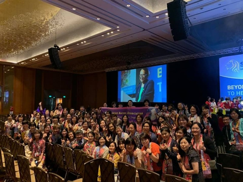 台灣參加國際護理協會年會。(圖擷取自台灣護理學會臉書)