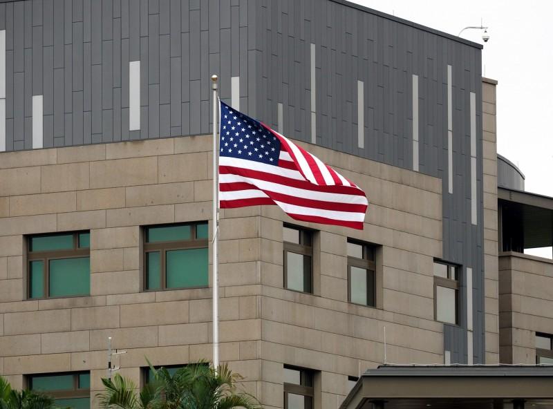 圖為美國在台協會(AIT)內湖新館外觀。(歐新社檔案照)