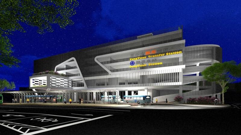 豐原轉運中心及立體停車場模擬圖。(記者黃鐘山翻攝)