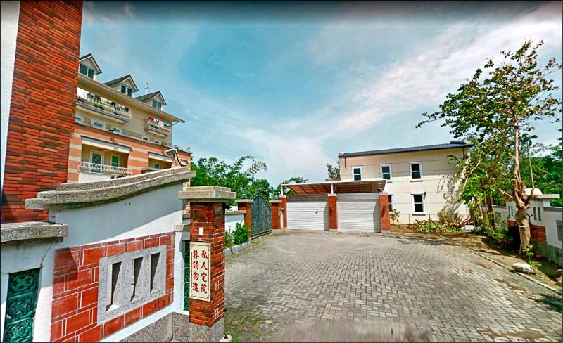 高雄市長韓國瑜妻子李佳芬在雲林古坑擁有的豪宅是農舍,有部分是違建加蓋。(取自Google地圖)