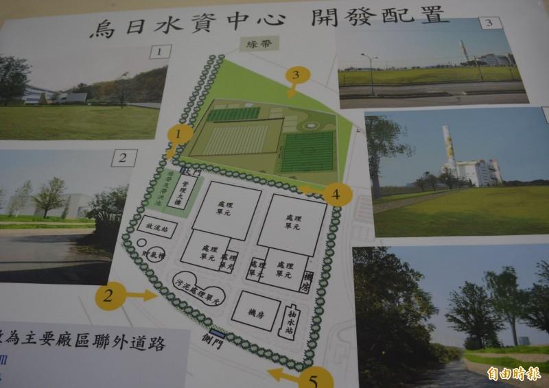 市府水利局規劃在烏日溪南興建水資源中心,並一併開闢北側的運動公園。(記者陳建志攝)