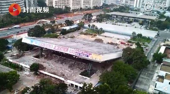 中國深圳一處體育中心今(8)日上午發生坍塌意外,已有3人死亡。(圖擷取自微博)