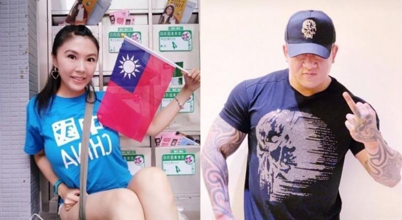 劉樂妍對館長嗆聲:「台灣就不是一個國家」,還嗆陳是「小孬孬」。(左圖取自劉樂妍臉書,右圖取自館長臉書)