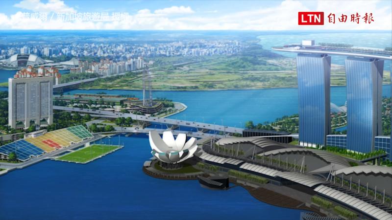 新加坡濱海灣是電影的主要場景。(普威爾/新加坡旅遊局授權)