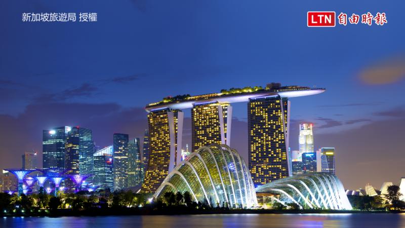 濱海灣夜景。(新加坡旅遊局授權)