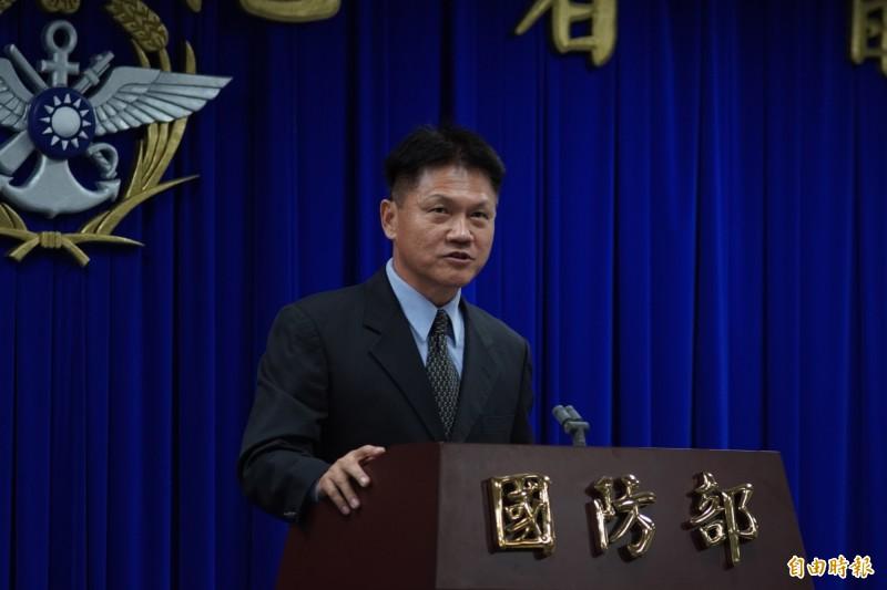 國防部全民防衛動員室主任韓岡明表示,未來教召將以志願役退伍軍人為主。(記者涂鉅旻攝)
