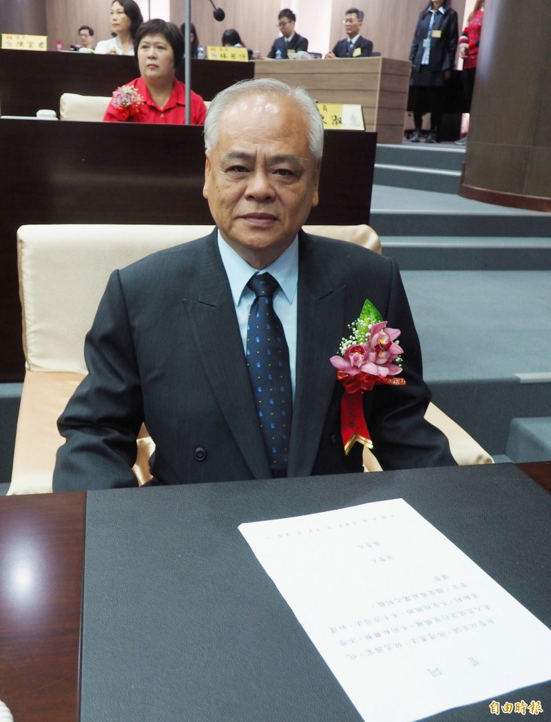 8連霸南投縣議員莊文斌一審被判決當選無效。(記者陳鳳麗攝)