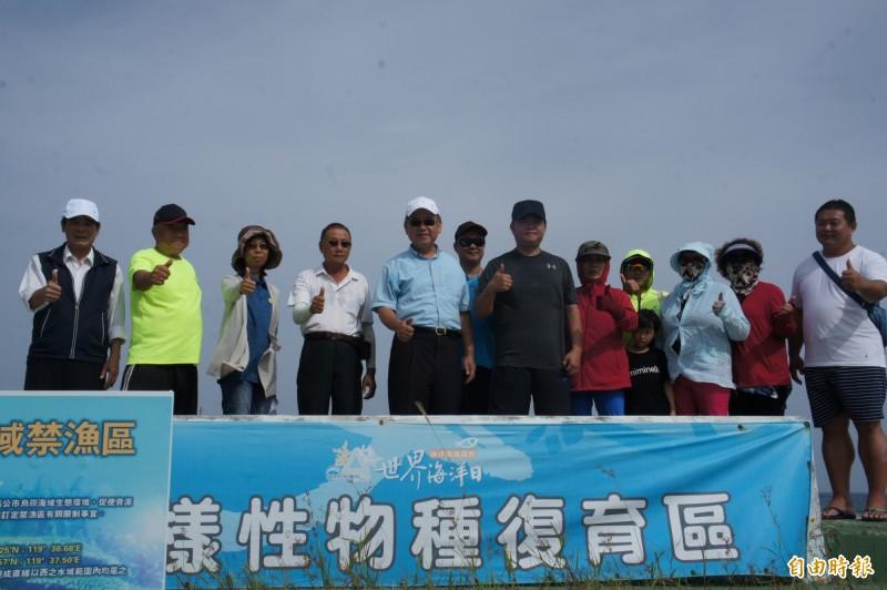 生態復育人士希望海洋生物永續發展。(記者劉禹慶攝)