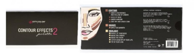 City Color Cosmetics Contour Effects Palette 2 Contour, Bronze, Highlight。(食藥署提供)