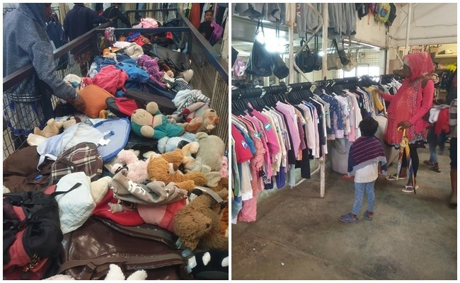 巴布亞紐幾內亞的二手物商場,大概有三個籃球場大小,這裡就是大家把衣服捐送出來的下落。(圖由吳建衡提供)