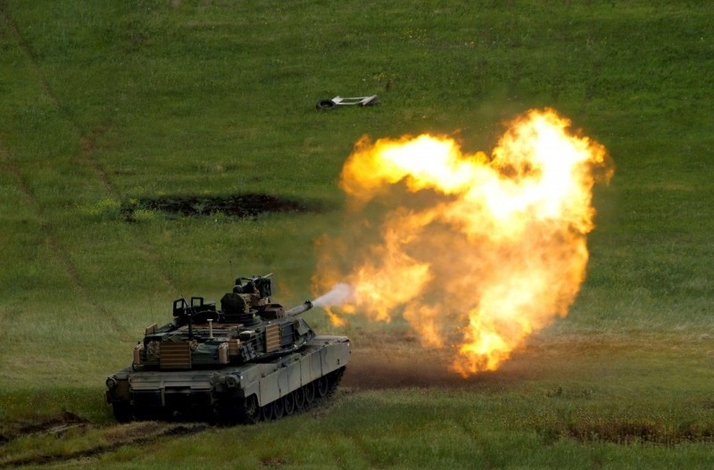 美批准售台M1A2T戰車,軍方成立專屬拖板車隊。(路透資料照)