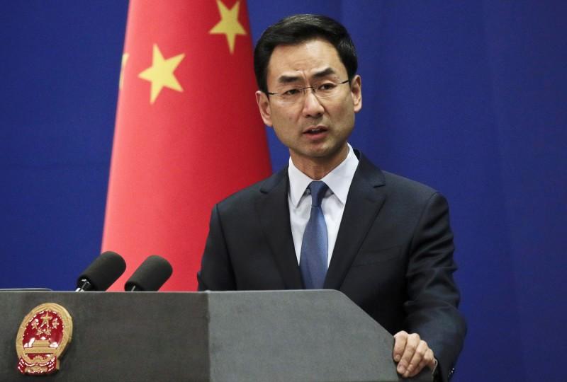 中國外交部發言人耿爽批評參與連署的22國罔顧真相,宣稱新疆各族群安居樂業,「幸福感、獲得感、安全感大幅提升」。(資料照,美聯社)
