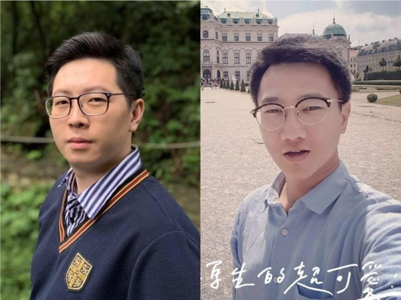 韓國瑜粉絲搞錯桃園市議員王浩宇(圖左)和媒體工作者王皓宇(圖右)。(圖擷取自王浩宇、王皓宇臉書)