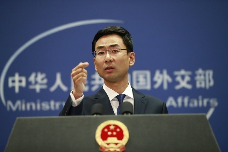 中國外交部發言人耿爽。(歐新社檔案照)