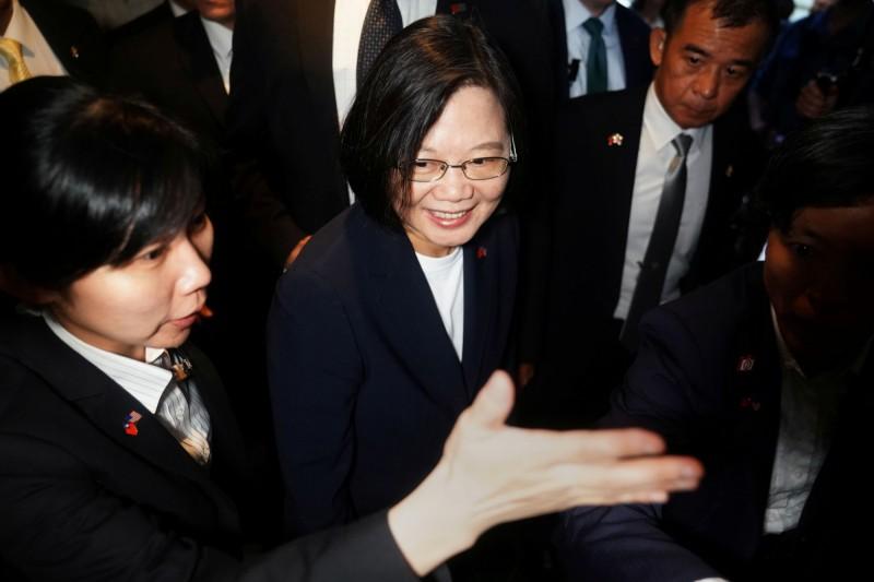 而這次蔡總統的公開出訪美國,也顯示川普更加親近台灣。(路透)