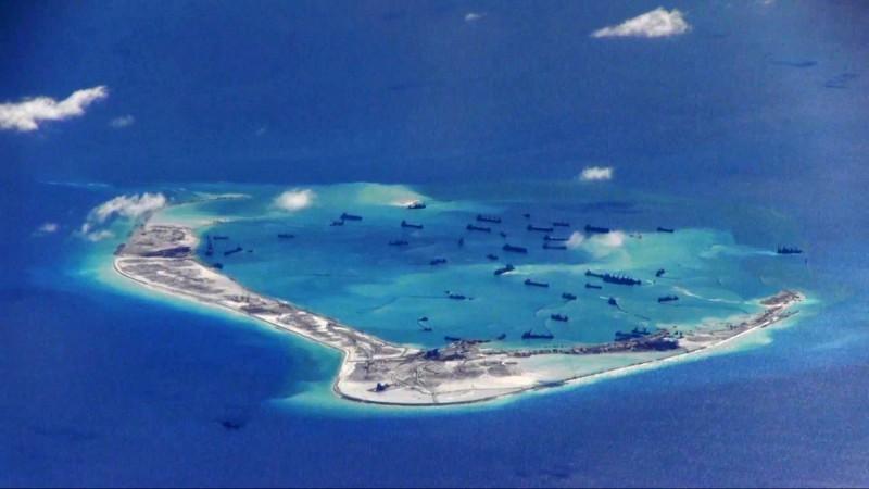 高達93%的菲律賓人認為,政府拿回南海爭議中被中國占領的島礁非常重要。圖為南海美濟礁,實際上為中方控制。(路透)