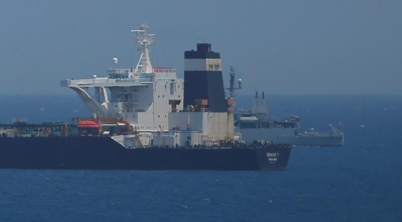 上週四伊朗油輪「Grace1號」因涉嫌違反歐盟制裁,意圖將石油運至敘利亞,遭英國海軍扣押。(路透)