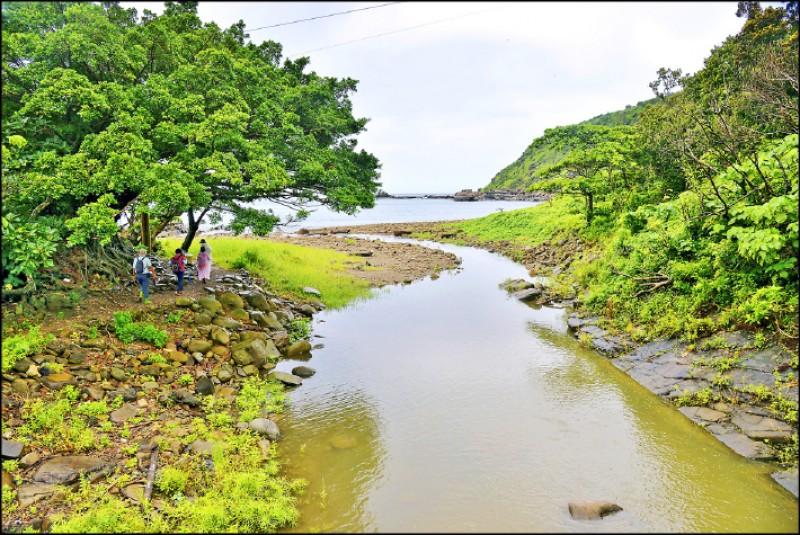 溪仔口溪位於太平洋的出海口。(記者許麗娟/攝影)