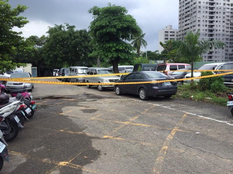 大社市場停車場發生殺人案。(記者洪臣宏翻攝)