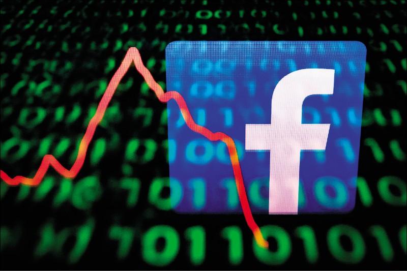 美國聯邦貿易委員會十二日對涉違反隱私保護的「臉書」,開出史上最高的五十億美元罰金。(法新社檔案照)
