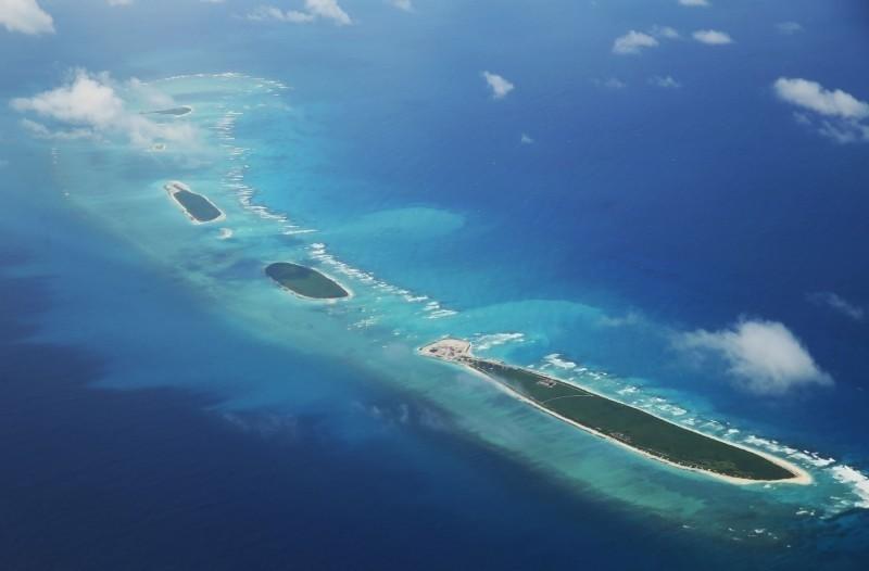 中國6月時在西沙群島附近進行軍事演習。(資料照,法新社)