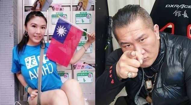 劉樂妍要挑戰館長,還嗆聲「沒把我打死,你就是孫子!」。(左圖取自劉樂妍臉書,右圖取自陳之漢臉書)