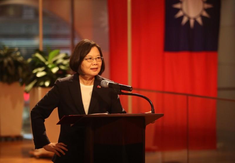 總統蔡英文出席「友邦駐聯合國常代酒會」,感謝友邦不斷在各種重要國際場域為台灣發聲。(訪團提供)