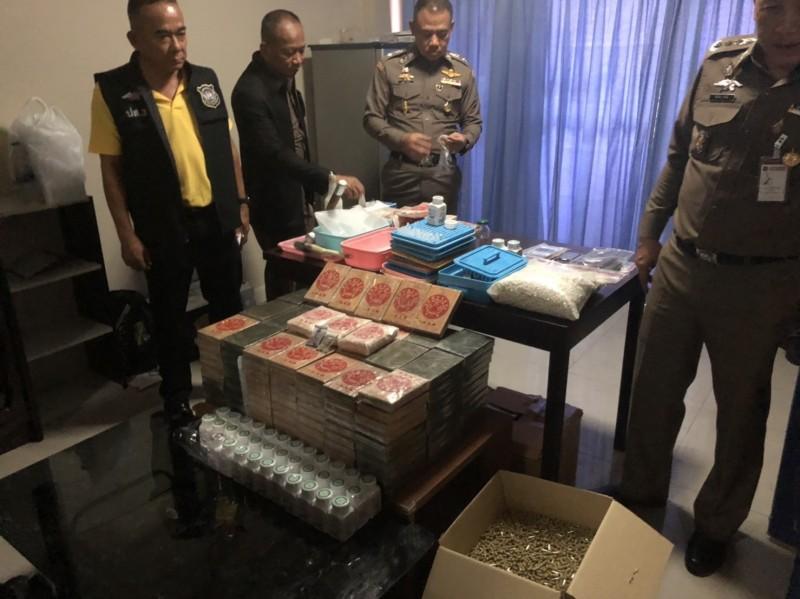 台美泰警方跨國緝毒,起獲海洛因80公斤、安非他命15公斤。(記者邱俊福翻攝)