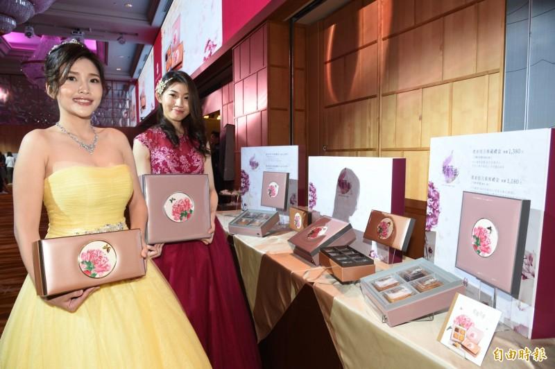 漢來情月月餅禮盒開放訂購,今年銷售目標也上調至5萬盒。(記者張忠義攝)