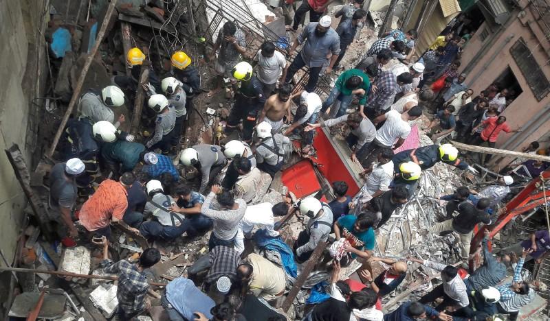 印度孟買驚傳建築物倒塌 至少40人被活埋