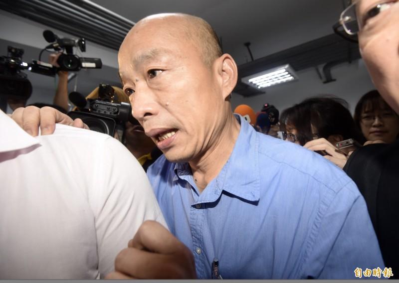 代表國民黨征戰2020總統大選的高雄市長韓國瑜。(資料照)