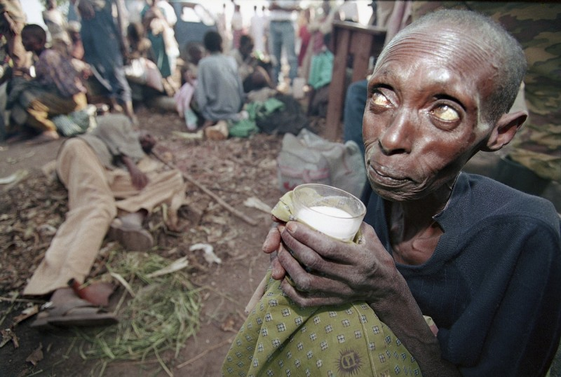 據聯合國「世界糧食安全和營養狀態」報告指出,全球飢餓人口總數連續三年升高,2018年有8.21億人處於飢餓與營養不良,更有20億人無法獲得乾淨營養的食物。(美聯社)