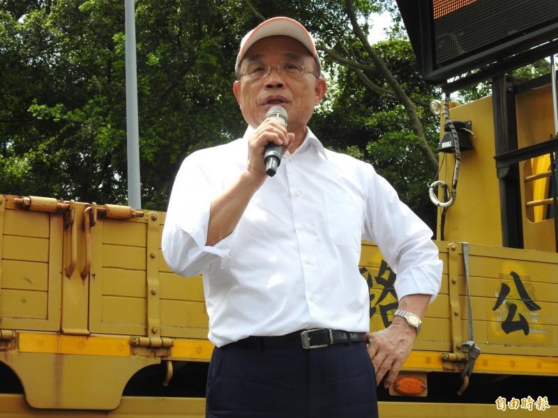 面對丹娜斯颱風來襲,行政院長蘇貞昌呼籲民眾做好防颱準備,並減少外出避免受傷。(資料照)