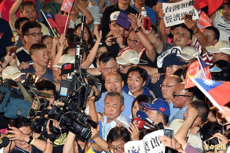 英國金融時報報導,旺旺中時媒體集團旗下媒體一面倒支持即將代表國民黨參加2020年總統大選的韓國瑜,旗下記者更透露,中國國務院臺灣事務辦公室直接打電話下達編採指示。(資料照)